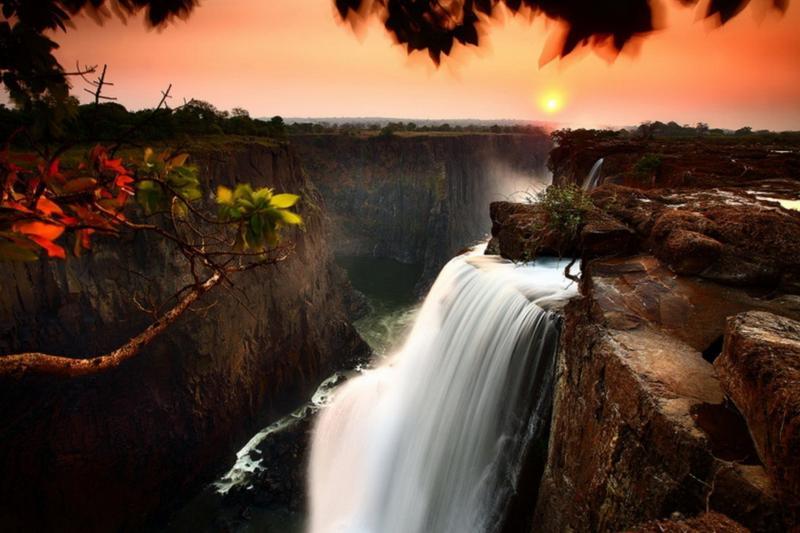 Водопад Виктория, Замбези,  Замбия, Ботсвана